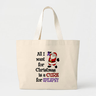All I Want For Christmas...Epilepsy Large Tote Bag