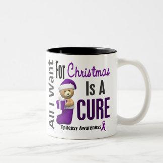 All I Want For Christmas Epilepsy Coffee Mugs