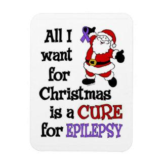 All I Want For Christmas...Epilepsy Rectangular Photo Magnet