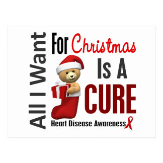 All I Want For Christmas Heart Disease Postcard