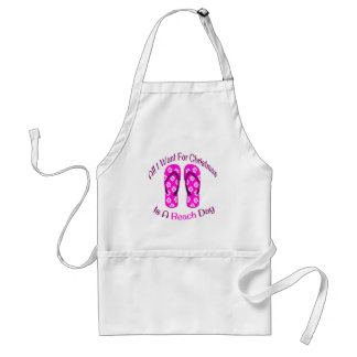 All I Want For Christmas Is A Beach Day Flip Flops Standard Apron