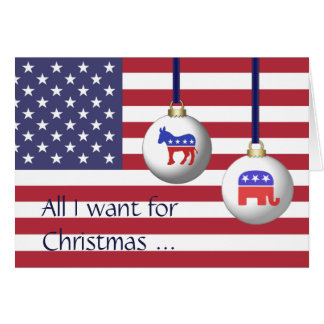 All I Want for Christmas is End Of Election Season Card