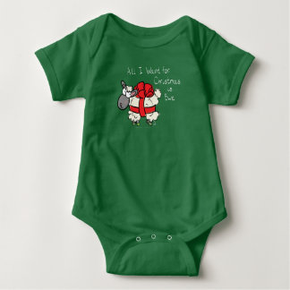 All I Want For Christmas is Ewe Onsie Baby Clothes Baby Bodysuit