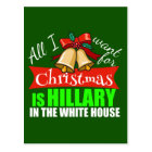 All I Want for Christmas is Hillary Postcard