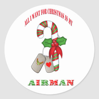 All I Want For Christmas Is My Airman Stickers