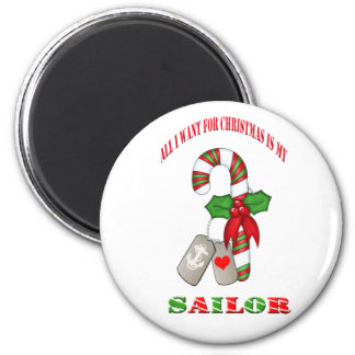 All I Want For Christmas Is My Sailor Magnet