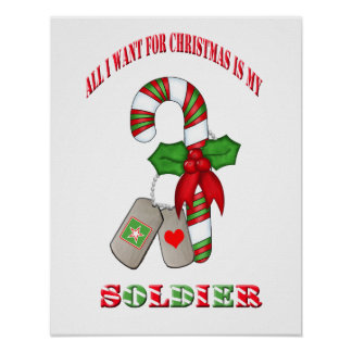 All I Want For Christmas Is My Soldier Poster