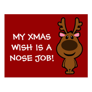 All I Want for Christmas is Plastic Surgery Postcard