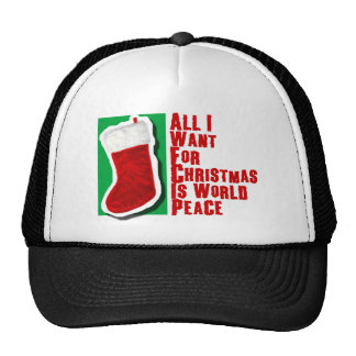 All I Want for Christmas is World Peace Cap