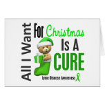 All I Want For Christmas Lyme Disease Greeting Card