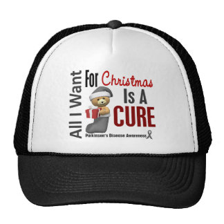 All I Want For Christmas Parkinson's Disease Cap