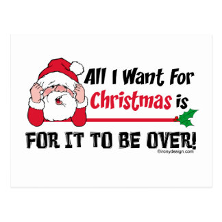 All I want for Christmas Postcard