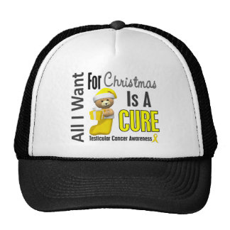 All I Want For Christmas Testicular Cancer Trucker Hats