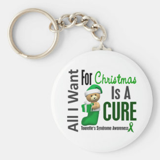 All I Want For Christmas Tourette's Syndrome Basic Round Button Key Ring