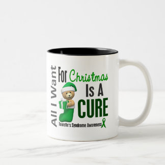 All I Want For Christmas Tourette's Syndrome Two-Tone Mug
