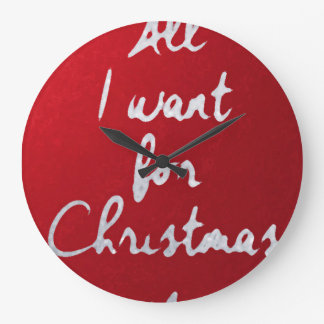 All i want for Crhristmas is… clock