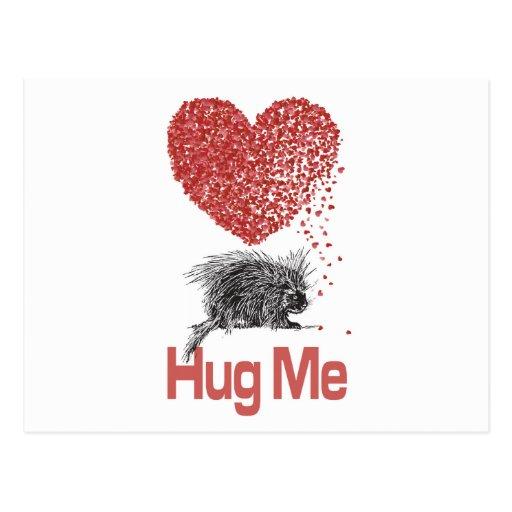 All I Want is a Hug Print Porcupine Art Post Cards