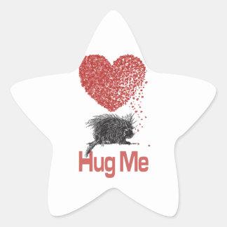 All I Want is a Hug Print Porcupine Art Stickers