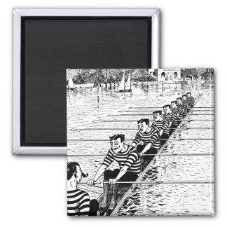 All In A Row Square Magnet