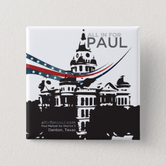All in for Paul - Square Button