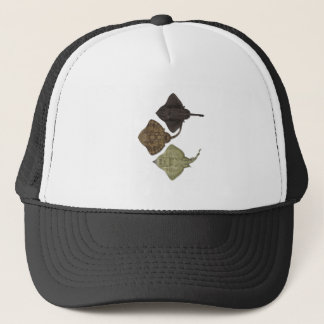 ALL IN FORMATION TRUCKER HAT