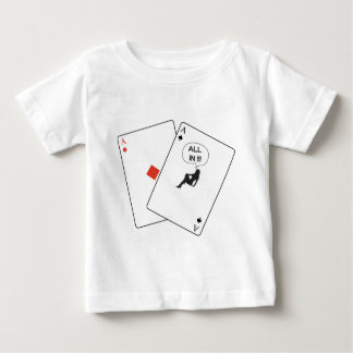 All In Pocket Aces Card Babe Poker Baby T-Shirt