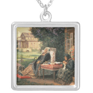 All in the Past, 1889 Silver Plated Necklace