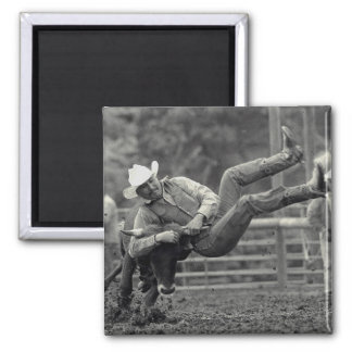 All Indian Rodeo in Tygh Valley, Oregon. Clint Square Magnet