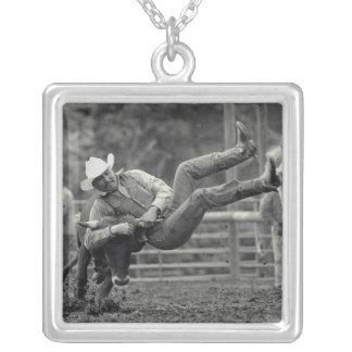 All Indian Rodeo in Tygh Valley, Oregon. Clint Square Pendant Necklace