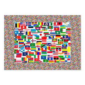 All International Flags 13 Cm X 18 Cm Invitation Card