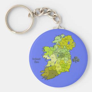 All Irish Map of Ireland Key Chain