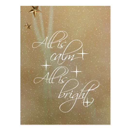All is Calm, All is Bright Christmas Postcard