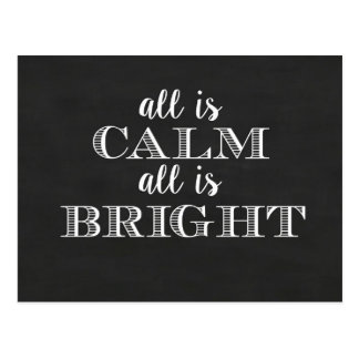 All is Calm All is Bright | Postcard