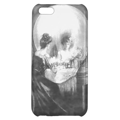 All is Vanity-Woman at Mirror or a Skull? iPhone 5C Cases