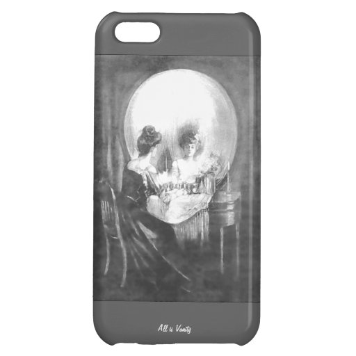 All is Vanity-Woman looking at Mirror? or Skull? Cover For iPhone 5C