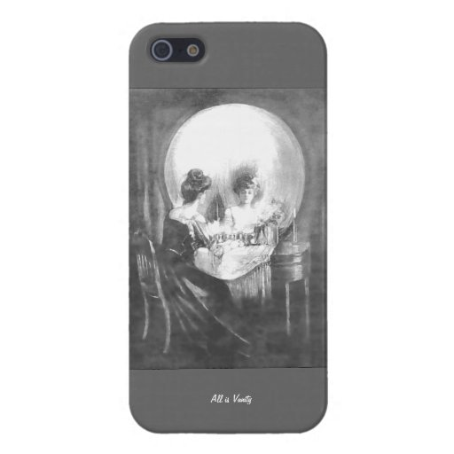 All is Vanity-Woman looking at Mirror? or  Skull? iPhone 5 Case