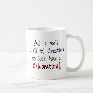 All is well in all of Creation Basic White Mug