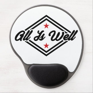 All Is Well New Age Affirmation Black, Red & White Gel Mouse Pad