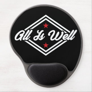 All Is Well New Age Affirmation White, Red & Black Gel Mouse Pad