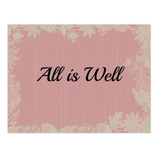 All is Well Quote Postcards