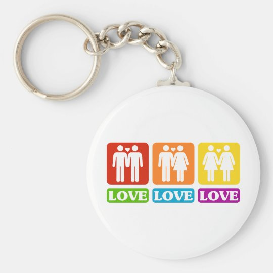 All Kinds Of Love Basic Round Button Key Ring