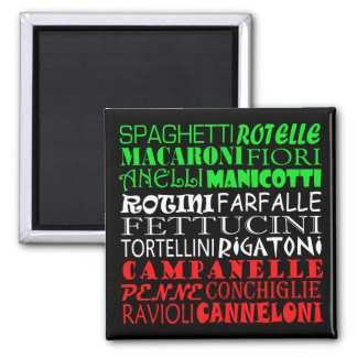 All Kinds Of Pasta Square Magnet