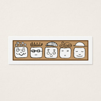 All kinds of people mini business card