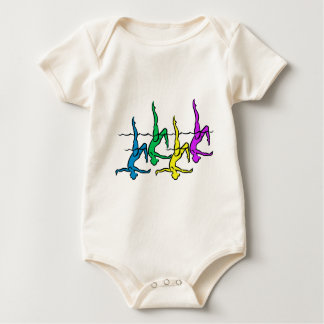 All Legs - Bright Colors Baby Bodysuit