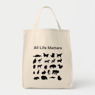 """""""All Life Matters"""" Tote Grocery Tote Bag"""