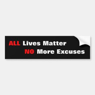 """""""All Lives Matter"""" Black Bumper Sticker"""