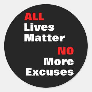 """All Lives Matter"" Black Stickers"