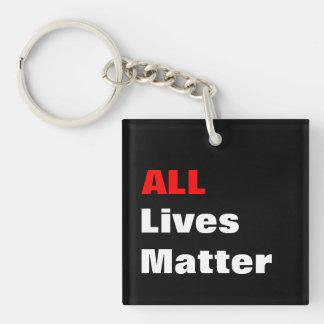 """All Lives Matter"" Keychain"