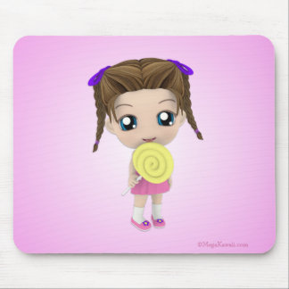 All Mine Cute Chibi Girl Candy Mousepad
