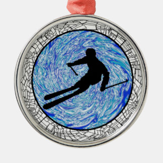 ALL MOUNTAIN SKIING CHRISTMAS ORNAMENT